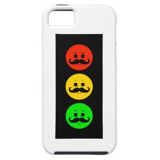 Capa Tough Para iPhone 5 Sinal de trânsito temperamental com bigodes do