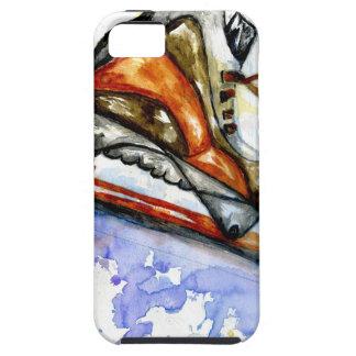 Capa Tough Para iPhone 5 Skate de gelo da aguarela