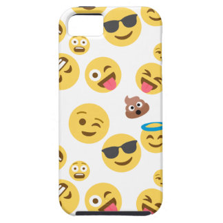 Capa Tough Para iPhone 5 Smiley louco Emojis