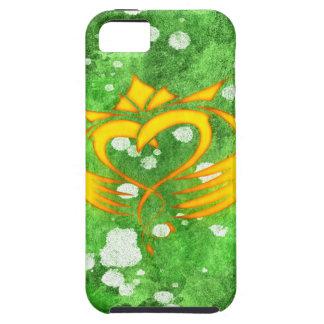 Capa Tough Para iPhone 5 Splatter celta irlandês de Claddagh