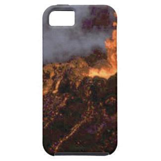 Capa Tough Para iPhone 5 Splatter e fluxo da lava