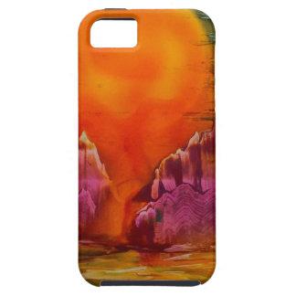 Capa Tough Para iPhone 5 Sun que brilha no lago
