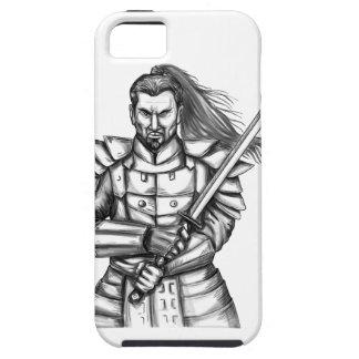 Capa Tough Para iPhone 5 Tatuagem da posição da luta do guerreiro do