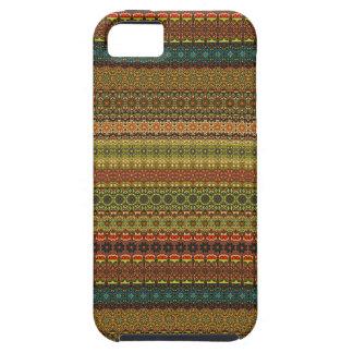 Capa Tough Para iPhone 5 Teste padrão asteca tribal do vintage