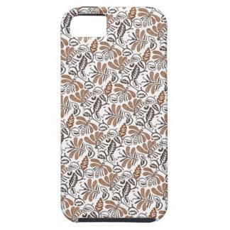 Capa Tough Para iPhone 5 Teste padrão branco de Walang do Batik (teste