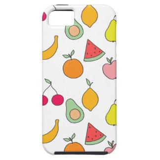 Capa Tough Para iPhone 5 teste padrão da fruta