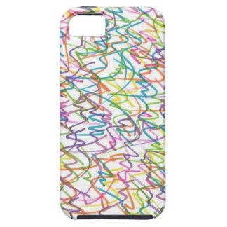Capa Tough Para iPhone 5 Teste padrão do abstrato do Splatter dos grafites