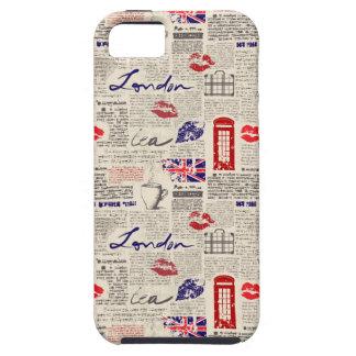 Capa Tough Para iPhone 5 Teste padrão do jornal de Londres