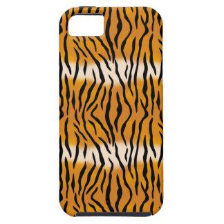 Capa Tough Para iPhone 5 Teste padrão do tigre