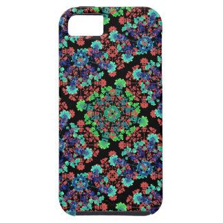 Capa Tough Para iPhone 5 Teste padrão floral colorido da colagem