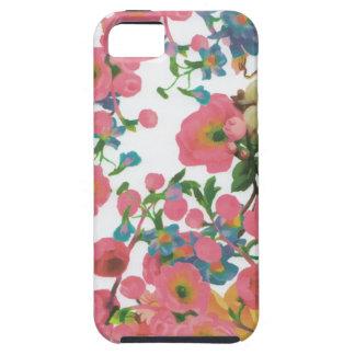 Capa Tough Para iPhone 5 teste padrão floral do tema das flores elegantes