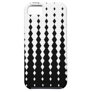 Capa Tough Para iPhone 5 Teste padrão misturado de Rhomb