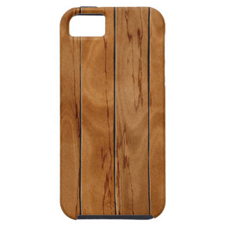 Capa Tough Para iPhone 5 Textura de madeira do assoalho do marrom escuro