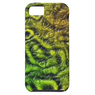 Capa Tough Para iPhone 5 Textura verde da pele