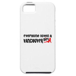 Capa Tough Para iPhone 5 Todos ama uma menina de Vancôver