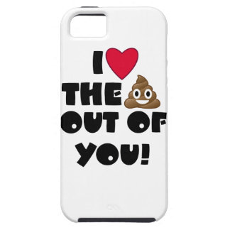 Capa Tough Para iPhone 5 Tombadilho Emoji do amor
