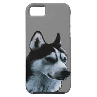 Capa Tough Para iPhone 5 Trabalhos de arte do Malamute do Alasca