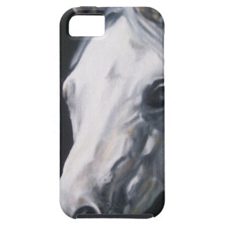 Capa Tough Para iPhone 5 Um cavalo branco