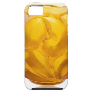 Capa Tough Para iPhone 5 Vaso amarelo do redemoinho do art deco