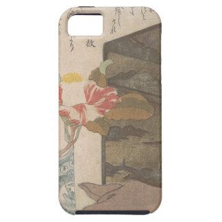 Capa Tough Para iPhone 5 Vaso de flor e caixa da laca - chinês
