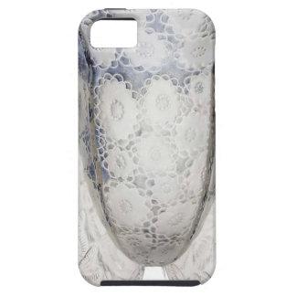 Capa Tough Para iPhone 5 Vaso de vidro claro do art deco com flores