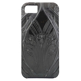 Capa Tough Para iPhone 5 Vaso preto do lagarto de vidro do art deco