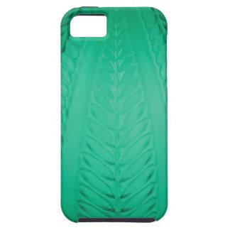 Capa Tough Para iPhone 5 Vaso verde alto do vidro do art deco