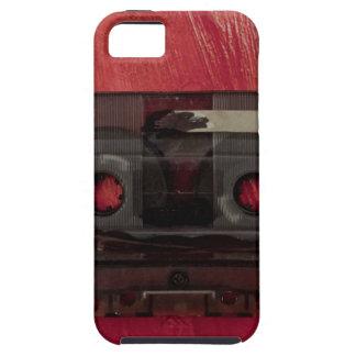 Capa Tough Para iPhone 5 Vermelho do vintage da música da cassete de banda