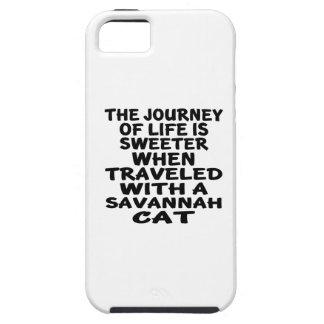 Capa Tough Para iPhone 5 Viajado com gato do savana