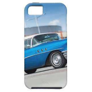 Capa Tough Para iPhone 5 Vintage clássico azul do carro velho do Special