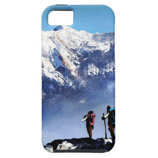 Capa Tough Para iPhone 5 Vista panorâmica da montanha máxima de Ama Dablam