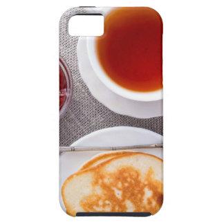 Capa Tough Para iPhone 5 Vista superior de uma placa de panquecas quentes
