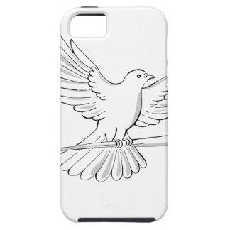 Capa Tough Para iPhone 5 Vôo do pombo ou da pomba com desenho do bastão