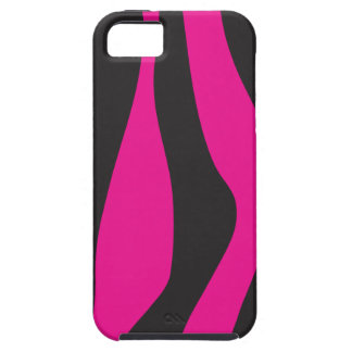 Capa Tough Para iPhone 5 Zebra cor-de-rosa