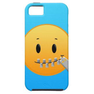 Capa Tough Para iPhone 5 Zipper Emoji