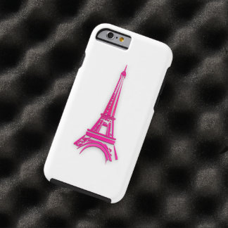 Capa Tough Para iPhone 6 3d torre Eiffel, clipart de France