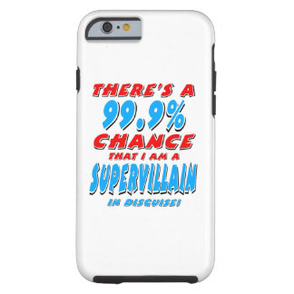 Capa Tough Para iPhone 6 99,9% Eu sou um BANDIDO SUPER (o preto)