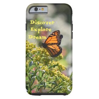 Capa Tough Para iPhone 6 A borboleta descobre explora o sonho