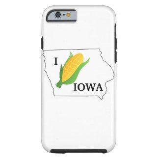 Capa Tough Para iPhone 6 A camisa do milho de Iowa foleiro gira fora do