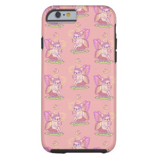 Capa Tough Para iPhone 6 A fada bonito de Frenchie está moldando um período