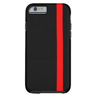 Capa Tough Para iPhone 6 A linha vermelha fina simbólica no preto