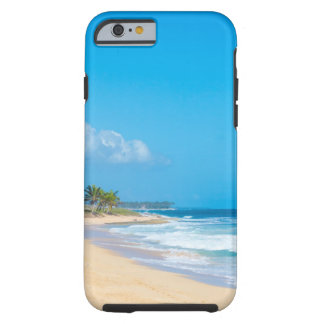 Capa Tough Para iPhone 6 A praia bonita do oceano, doma ondas, céus azuis