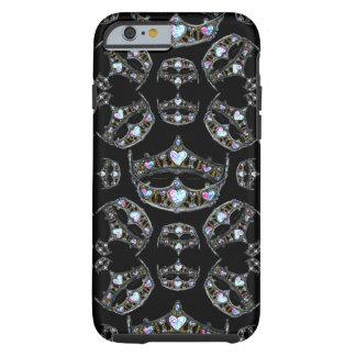 Capa Tough Para iPhone 6 A rainha das tiaras de prata das coroas dos