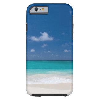 Capa Tough Para iPhone 6 Água tropical de turquesa da praia