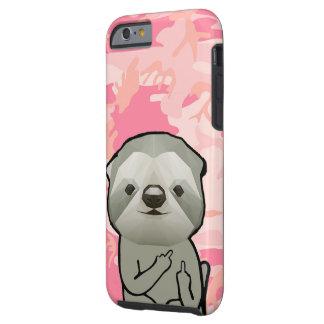 Capa Tough Para iPhone 6 Amor animal engraçado Camo de Meme do dedo médio