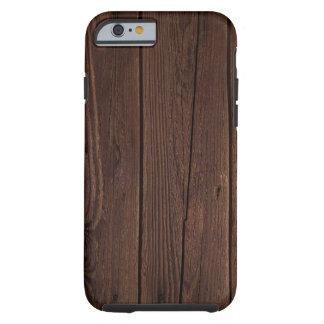 Capa Tough Para iPhone 6 Argumento de imitação de madeira para