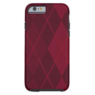 Capa Tough Para iPhone 6 Argyle vermelho