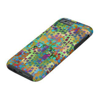 Capa Tough Para iPhone 6 Arte abstrata colorida de Digitas com quadrados