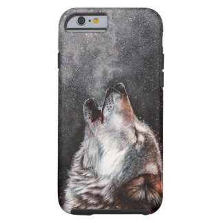 Capa Tough Para iPhone 6 Arte do lobo - lobo do urro - pintura do lobo