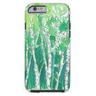 Capa Tough Para iPhone 6 Árvores caneta de Aspen e arte verde da aguarela